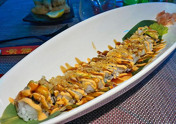 Shrimp Tempura Roll at IWASATTHEBAR