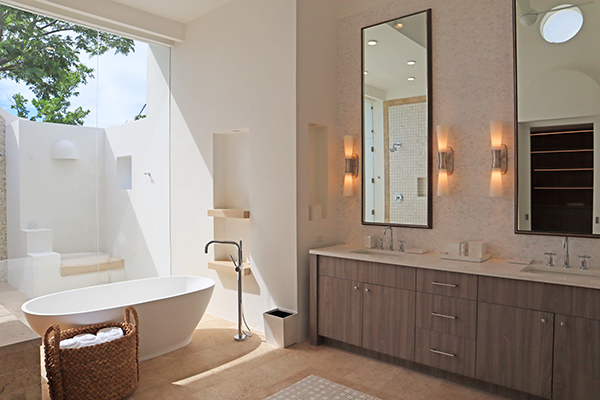 Bathroom at Sky Villa, Long Bay Villas