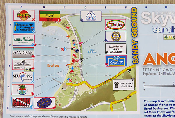 high scale map of sandy ground in anguilla