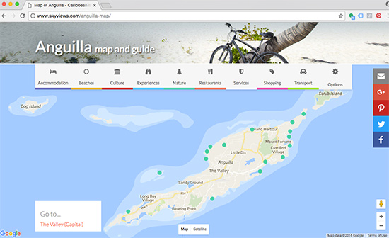 your relevant points of interest on skyviews map anguilla