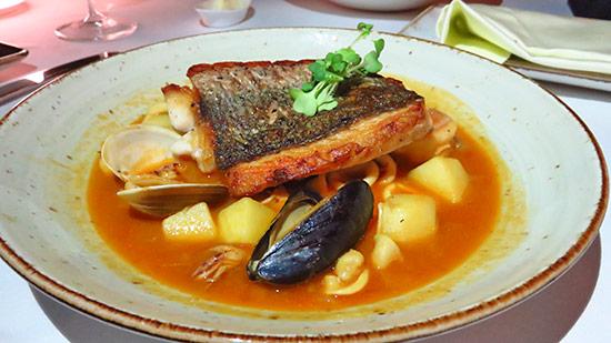 snapper bouillabaisse at malliouhana