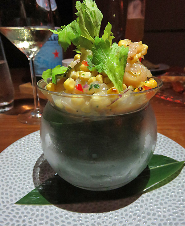 ceviche bar at coba four seasons