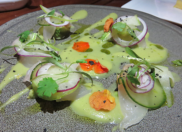 snapper ceviche at the yacht club