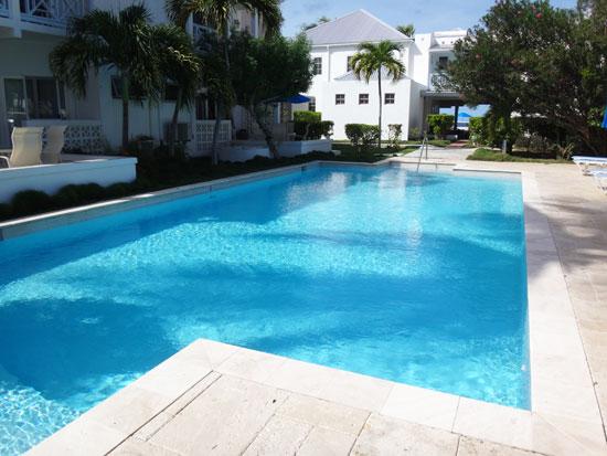 solar heated pool at shoal bay villas