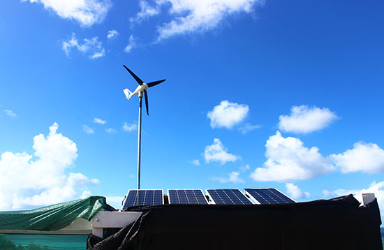 the wind and solar power at anguilla jammin