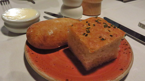 sourdough and focaccia bread at malliouhana