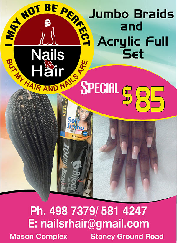 specials at nails r hair