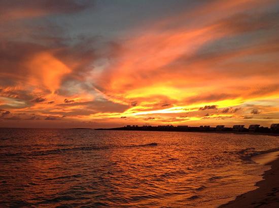 sunset on shoal bay west