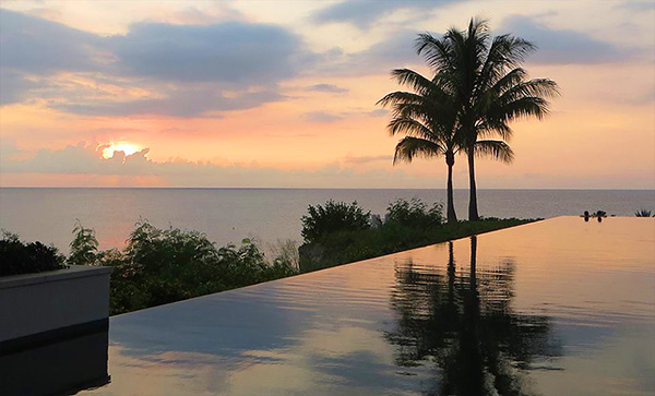 relaxing sunset at four seasons anguilla sunset lounge