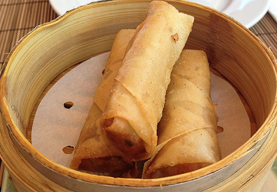 curry chicken spring rolls