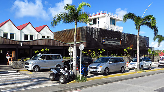 back to the airport at st. barths