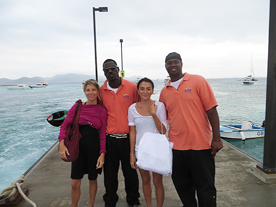 Blowing Point Anguilla Nori Kristin Brad Pitt Vince