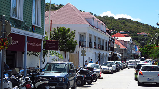 walking through gustavia