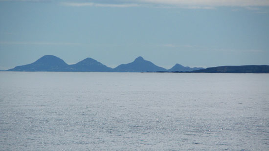 view of st. barths and flat island from moondance villa