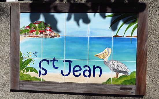 st. jean beach sign