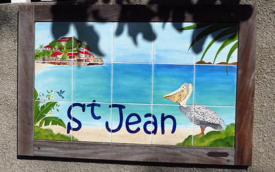 st. jean beach sign