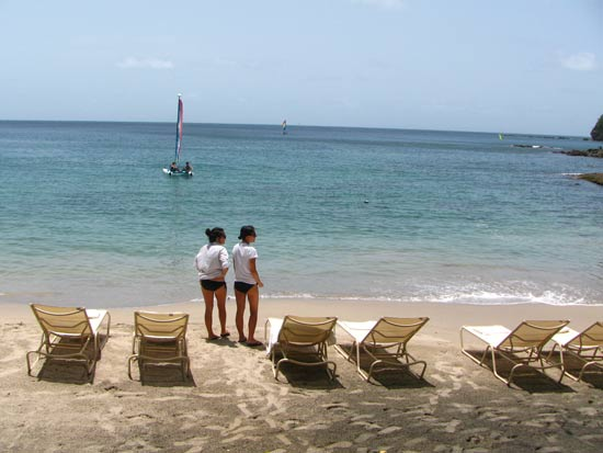 St. Lucia resorts Cap Maison beach
