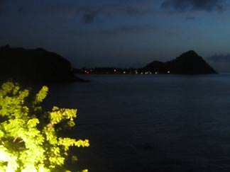 night view of cliff at cap maison