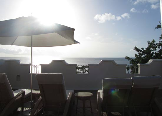 St. Lucia resorts Cap Maison terrace