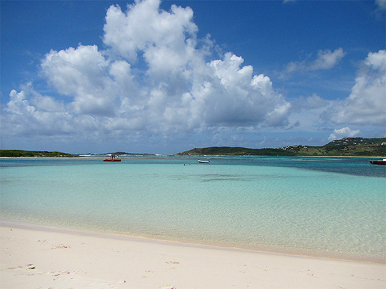 Calm Beach In St Martin