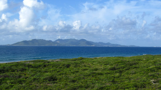 View #1: St. Martin (Grand Case and Marigot) to the West