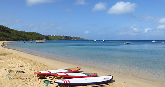 stand up paddle board on crocus bay