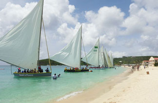 anguilla sail boats ready to start the race