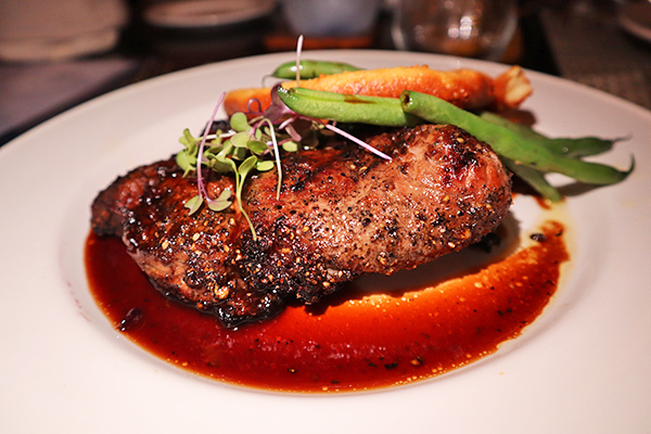 4 Peppercorn-coffee rubbed Steak at ember