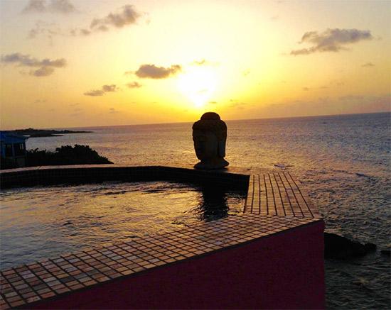 sunset at villa hibernia