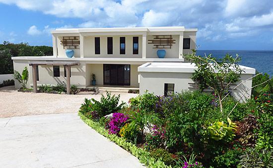 sunset beach house entrance