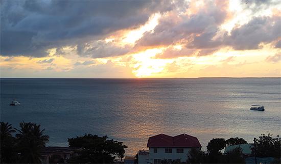sunset from esplanade