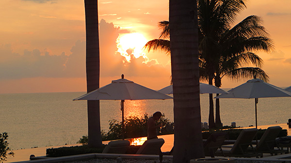 sun setting in anguilla at four seasons resort