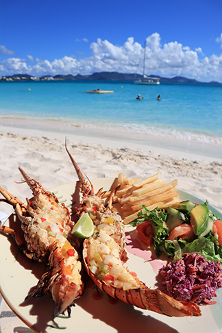 anguilla food beachside lobster