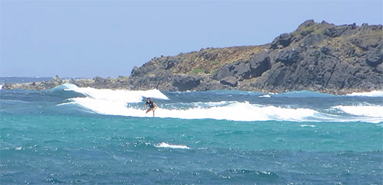 surfing with franck and sxm surf explorer