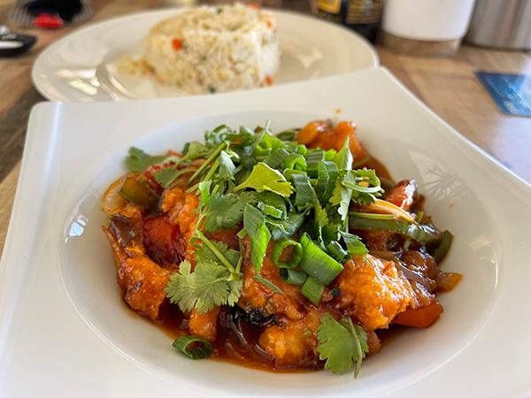 Sweet & Sour Crispy Shrimp at Tao Garden