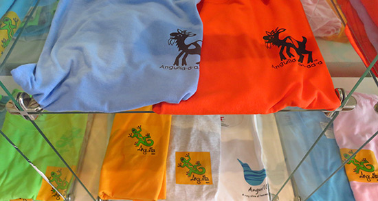 anguilla goat and gecko t-shirts