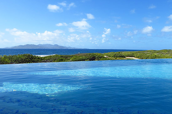 tranquility wrapped in blue view from tequila sunrise villa