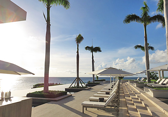 four seasons anguilla infinity edge pool at their sunset lounge