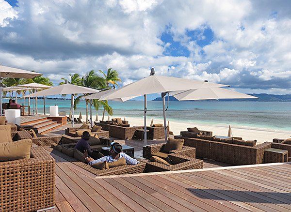 couch seating at breezes anguilla restaurant