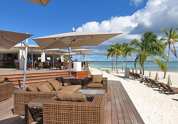 terrace at breezes restaurant on the beach