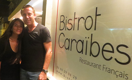 with thibault meziere the owner of bistrot caraibes
