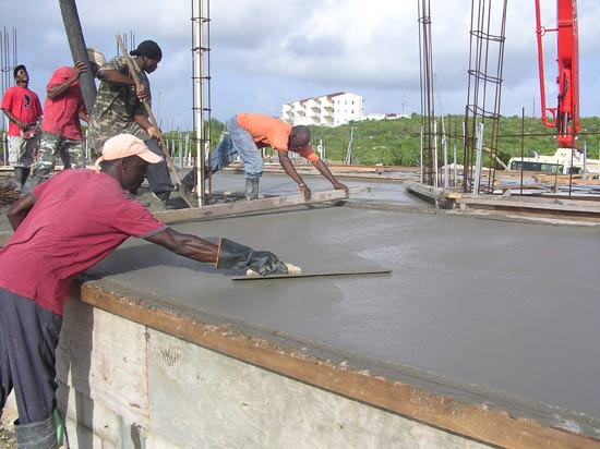 The Third Team Finishes The Concrete