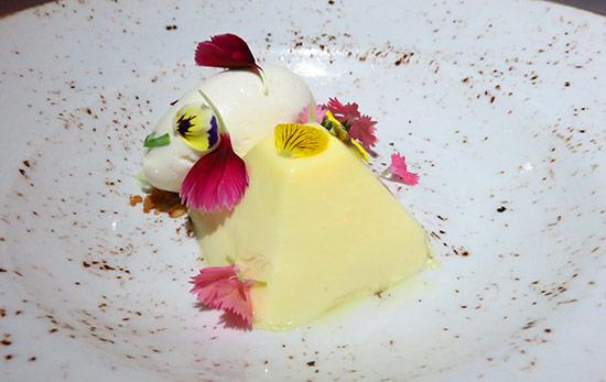 thyme parfait dessert at malliouhana
