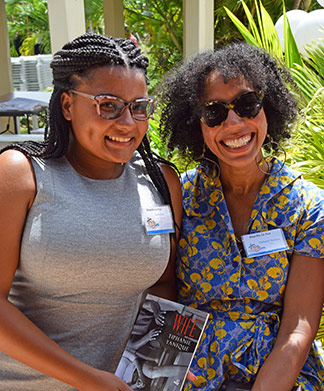 tiphanie yanique with cassie lewis at lit fest 2017 in anguilla