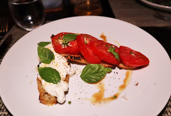 Local Tomato & Stracciatella Toast at ember