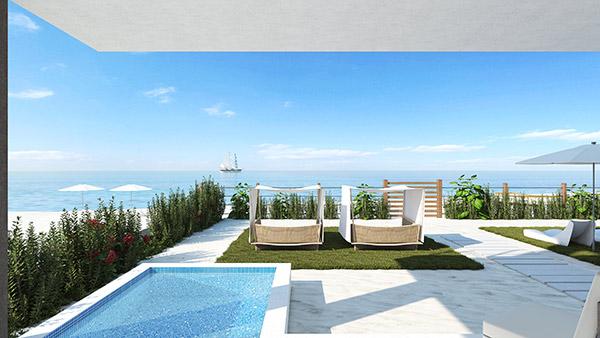 ground floor patio villa a tranquility beach