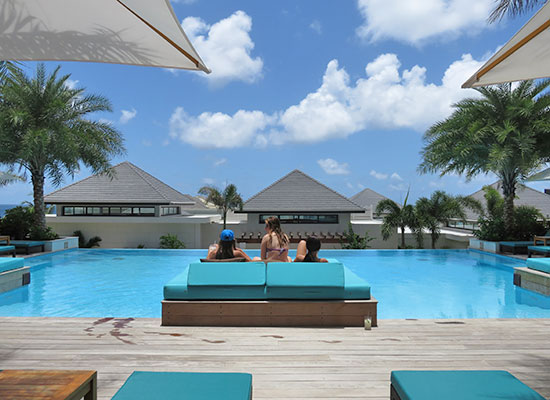 tranquility pool day beds at zemi beach house