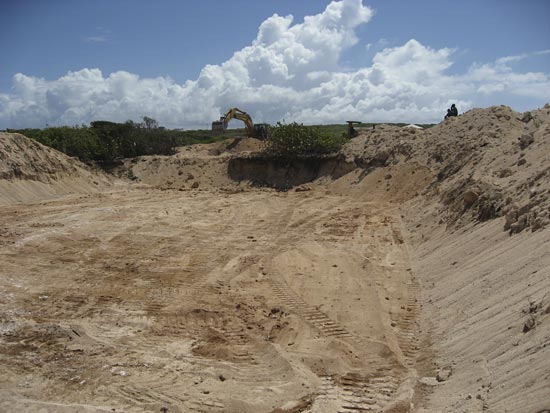 Anguilla finished hole