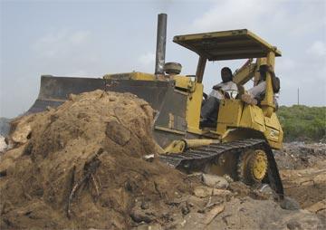 Anguilla bulldozer