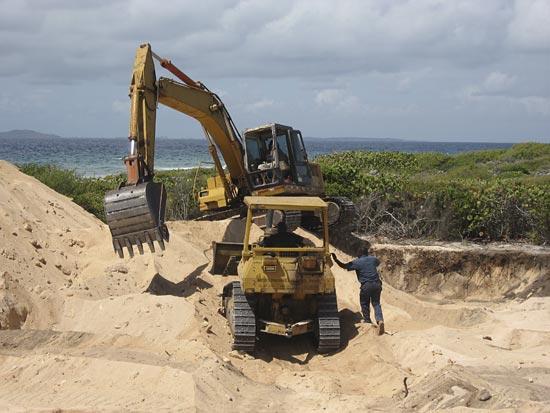 tropical building excavation